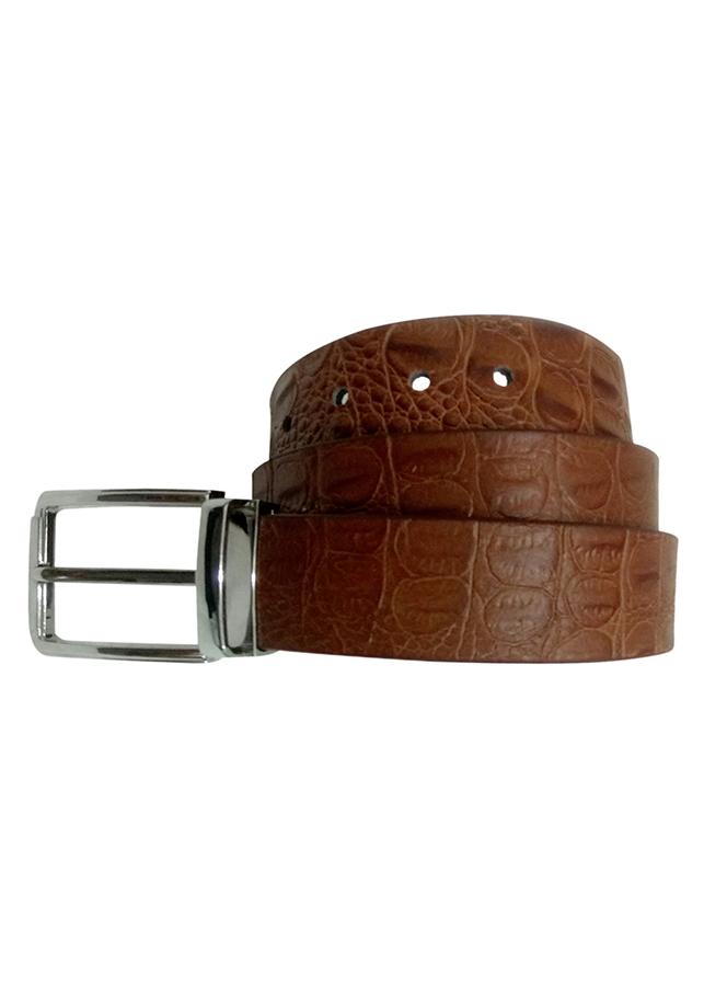 Thắt Lưng Vân Cá Sấu Da Thật VNL VNL9TL0TK8B - Nâu