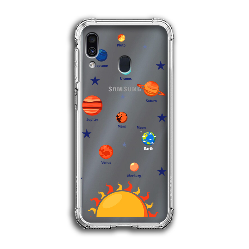 Ốp Lưng Dẻo Chống Sốc cho điện thoại Samsung Galaxy A20 - 04036 0550 SOLARSYSTEM05 - Hàng Chính Hãng