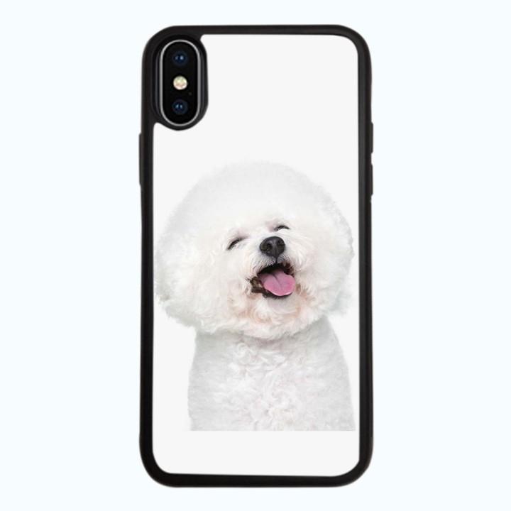 Ốp Lưng Kính Cường Lực Dành Cho Điện Thoại iPhone X Puppy Cute Mẫu 2