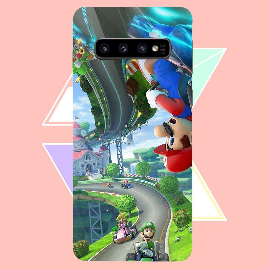 Ốp kính cường lực cho điện thoại Samsung Galaxy S10 - super mario MS MARIO005 - Hàng Chính Hãng