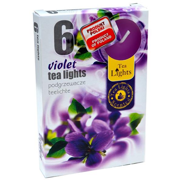 Hộp 6 nến thơm Tea lights Admit Violet ADM6848 (Hương hoa phi yến)