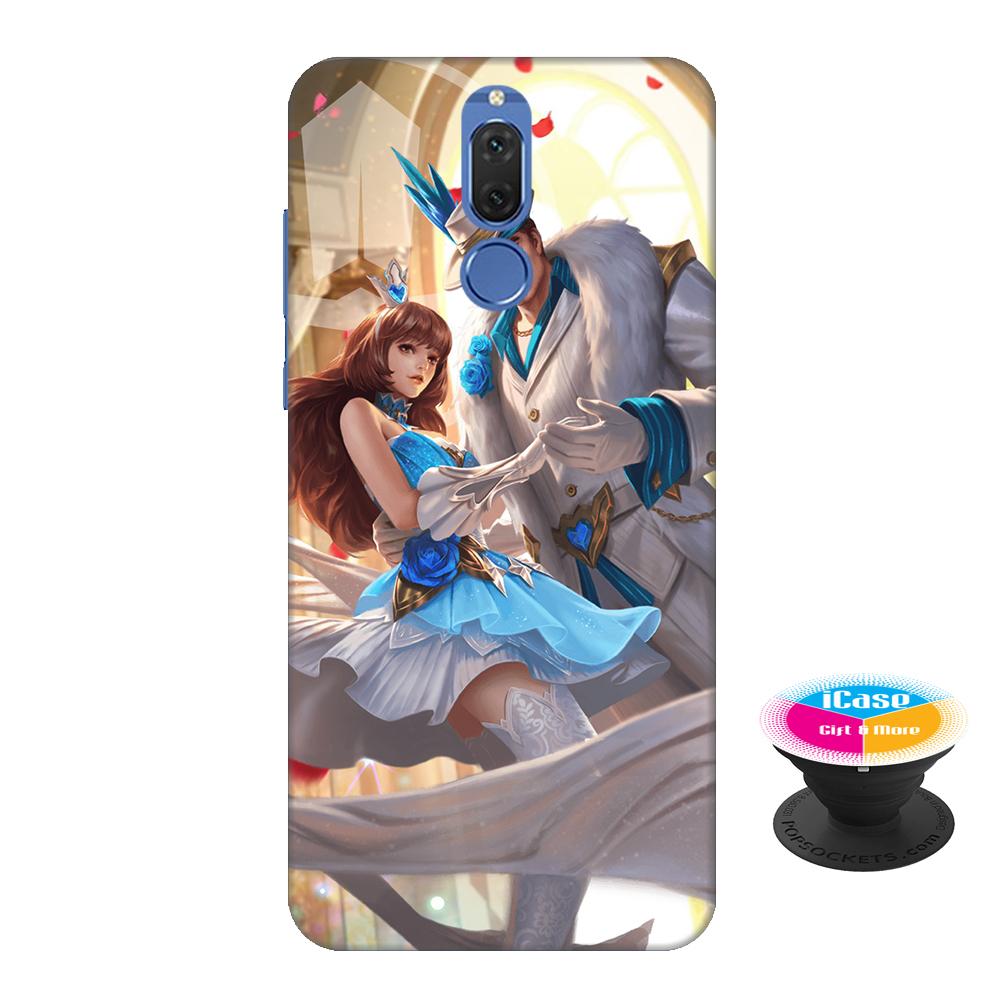 Ốp lưng nhựa dẻo dành cho Huawei Nova 2i in hình Lữ Bố nam vương - Tặng Popsocket in logo iCase - Hàng Chính Hãng