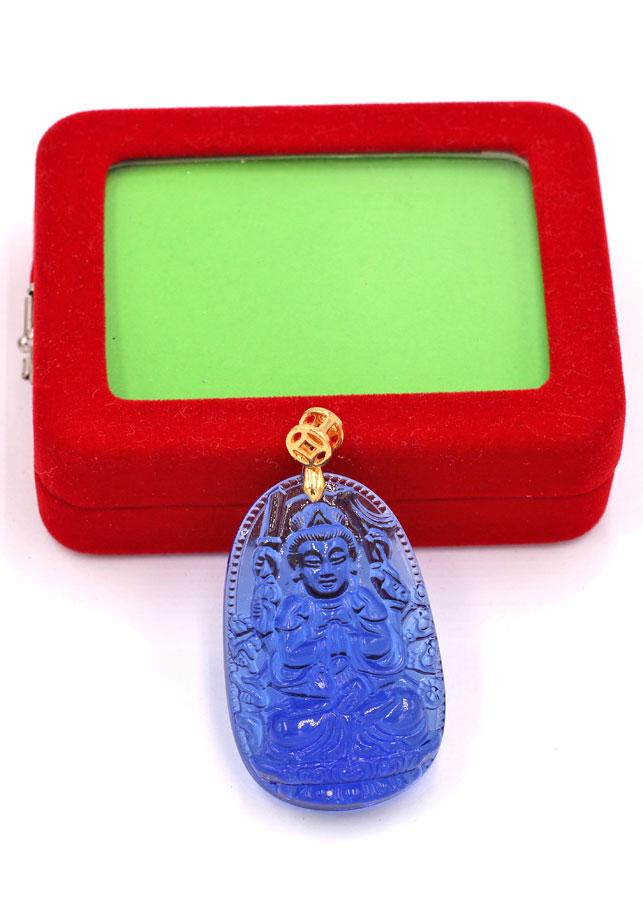 Mặt dây chuyền Phật Thiên Thủ Thiên Nhãn đá pha lê 5 cm - Phật bản mệnh tuổi Tý - Phù hộ độ trì, mang lại may...