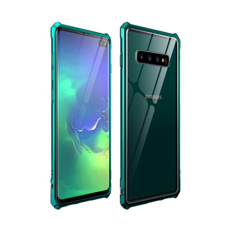 Ốp lưng dành cho Samsung Galaxy S10 Plus BOBYT viền kim loại mặt lưng kính - Hàng nhập khẩu