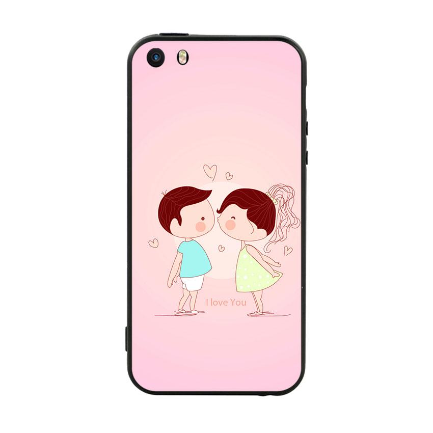 Ốp Lưng Viền TPU Cao Cấp Dành Cho iPhone 5 / 5s - Kiss love 01