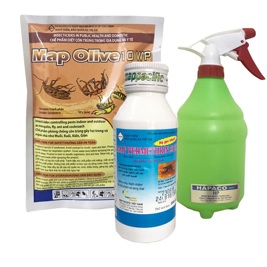Combo Thuốc diệt muỗi, ruồi, kiến Mappermethrin 50ec 100ml + gói Map Olive 62g Tặng Bình xịt cầm tay cao cấp 1l - 1553704 , 7076018594780 , 62_10089259 , 250000 , Combo-Thuoc-diet-muoi-ruoi-kien-Mappermethrin-50ec-100ml-goi-Map-Olive-62g-Tang-Binh-xit-cam-tay-cao-cap-1l-62_10089259 , tiki.vn , Combo Thuốc diệt muỗi, ruồi, kiến Mappermethrin 50ec 100ml + gói Map