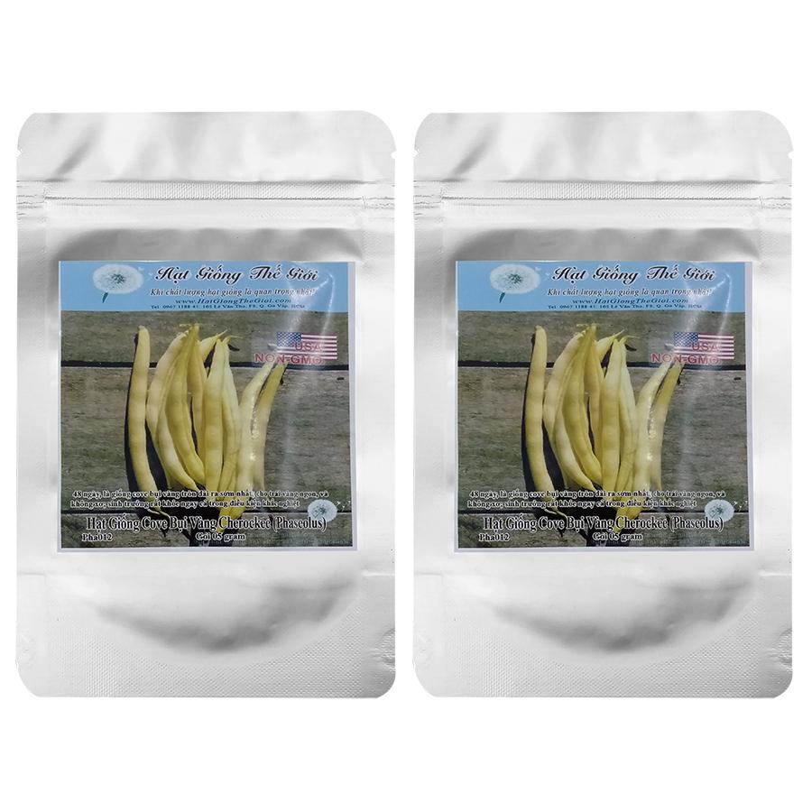 Bộ 2 túi 5g Hạt Giống Đậu Cove - Bụi Vàng Siêu Nhanh Cherockee (Phaseolus vulgaris)