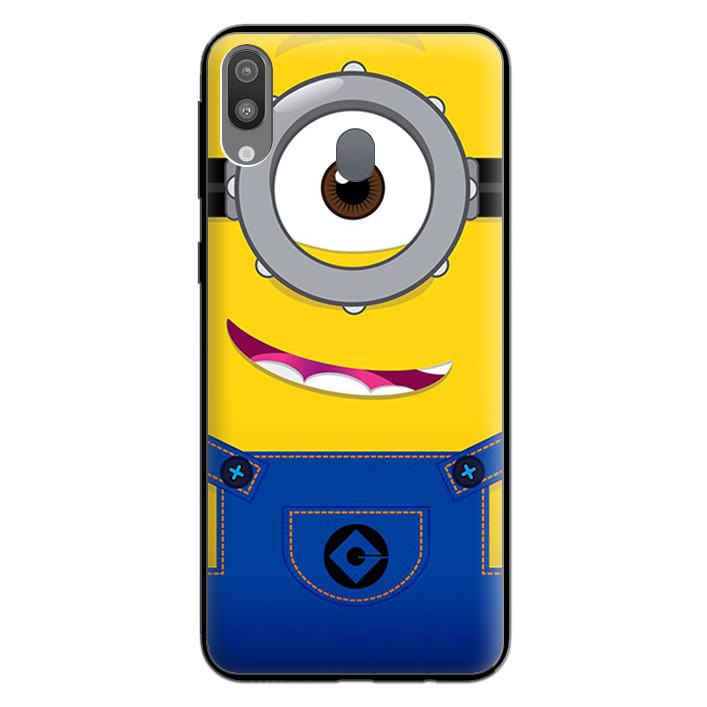 Ốp Lưng Viền TPU cho điện thoại cho điện thoại Samsung Galaxy M20 - 0297 MINION01 - Hàng Chính Hãng