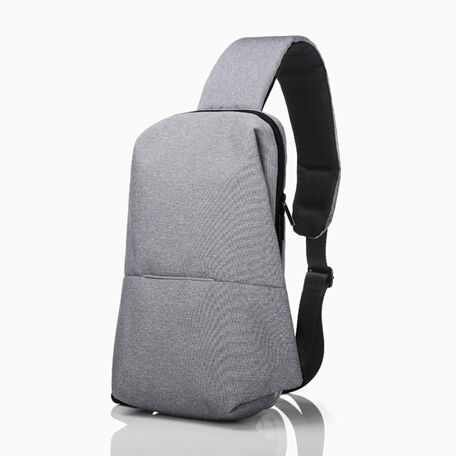 INTERIGHT Casual Chest Shoulder Bag Casual Chest Shoulder Bag Light Grey