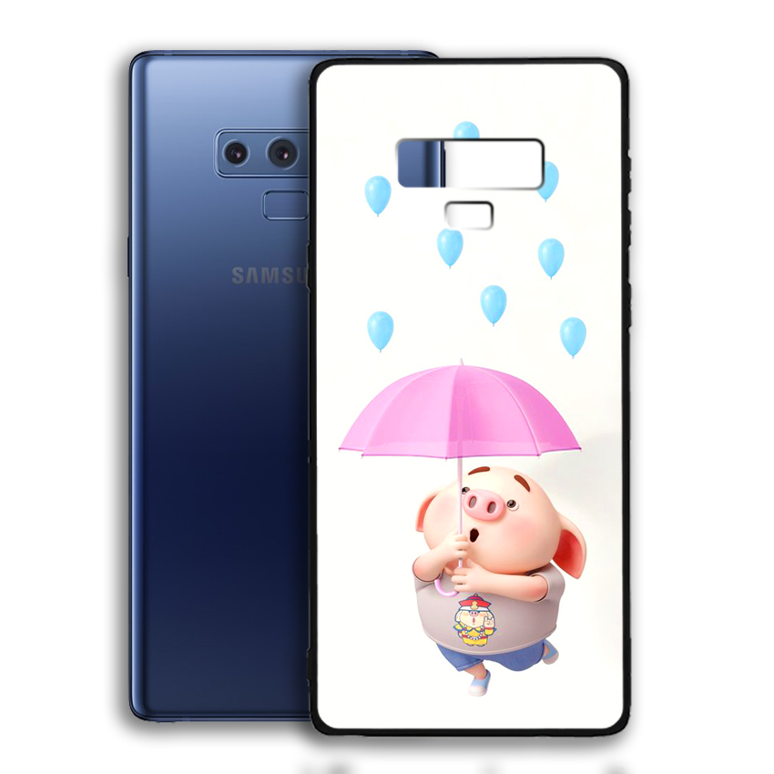 Ốp lưng viền TPU cho điện thoại Samsung Galaxy Note 9 - 02044 0523 PIG26 - Hàng Chính Hãng