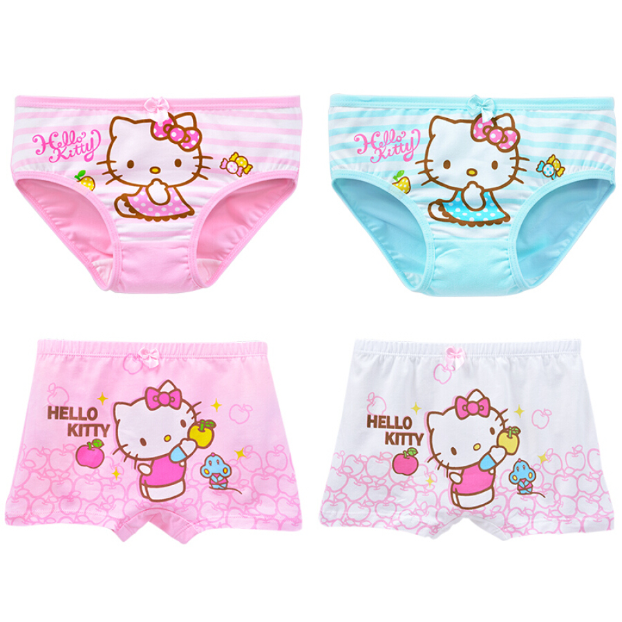 Bộ 4 Quần Lót Cho Bé Gái Hello Kitty KTN127