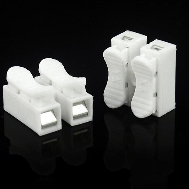 30PCS x 2P Lamp Quick Spring Clamp Weding Solding Wire Connector Terminal Block