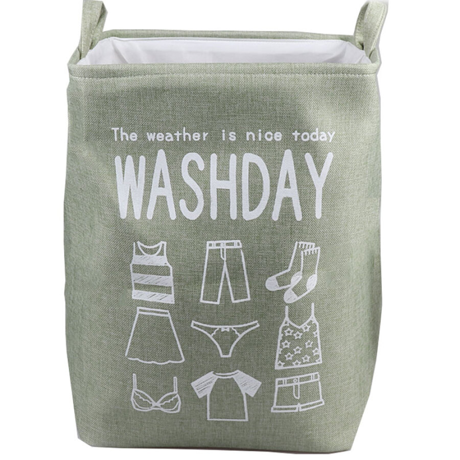 Clothy clothes storage basket toy sorting bag storage bag matcha green
