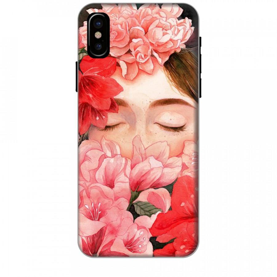Ốp lưng dành cho điện thoại iPhone XR - X/XS - XS MAX - Nàng Hoa