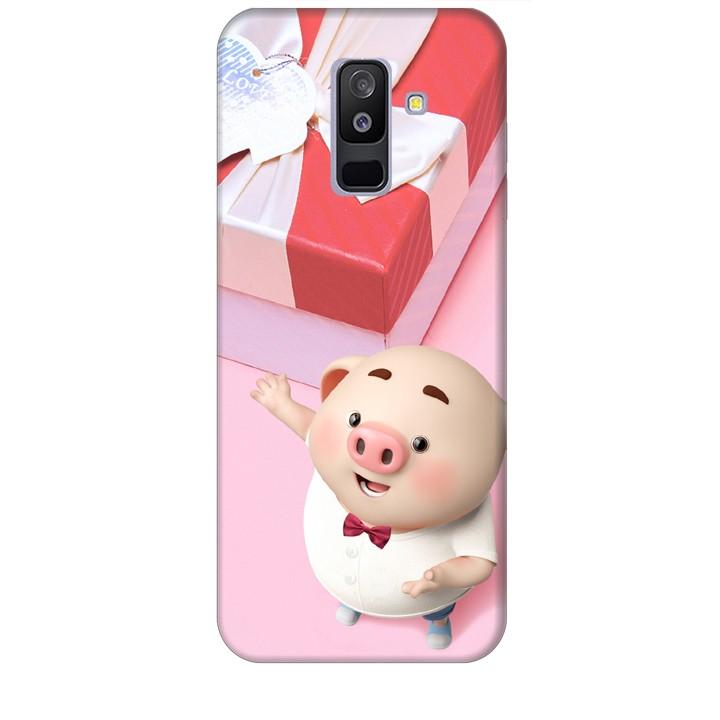 Ốp lưng dành cho điện thoại  SAMSUNG GALAXY A6 PLUS 2018 Heo Con Đòi Quà