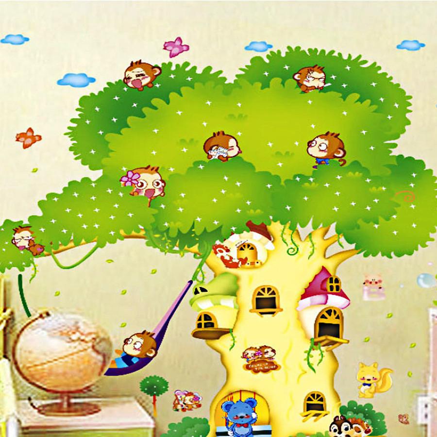 decal dán tường cho bé nhà khỉ trên cây ngộ nghĩnh 2 mảnh xy1103 - 7504135 , 4321804458535 , 62_16160556 , 150000 , decal-dan-tuong-cho-be-nha-khi-tren-cay-ngo-nghinh-2-manh-xy1103-62_16160556 , tiki.vn , decal dán tường cho bé nhà khỉ trên cây ngộ nghĩnh 2 mảnh xy1103