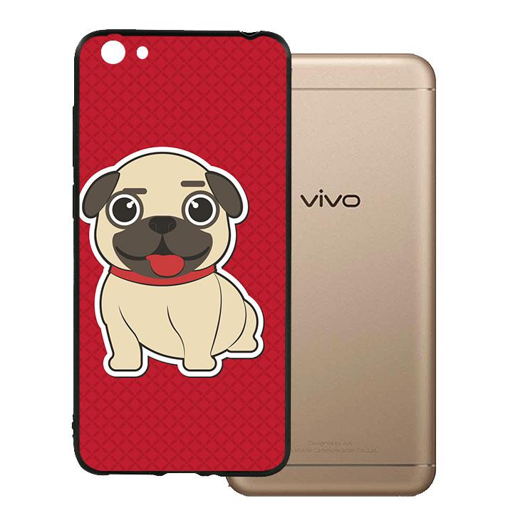 Ốp lưng viền TPU cho Vivo Y55 - Kute Dog 01