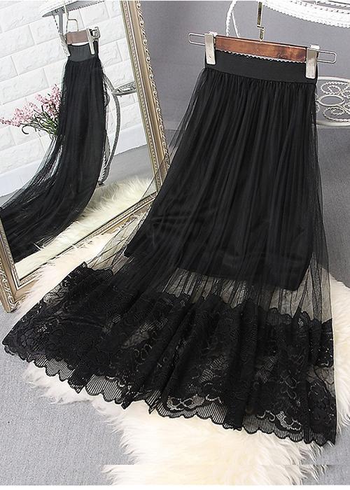 4911440619393 - Chân váy nữ ren hoa freesize nhiều màu