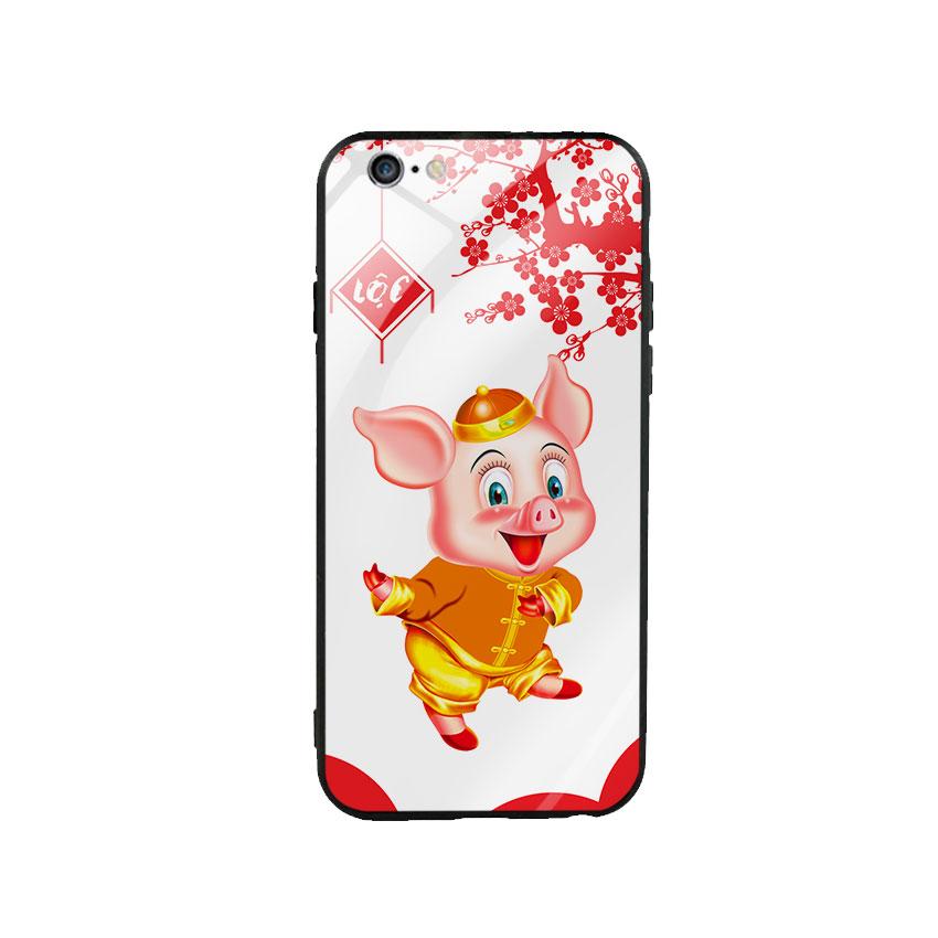 Ốp Lưng Kính Cường Lực cho điện thoại Iphone 6 Plus / 6s Plus - Pig 2019