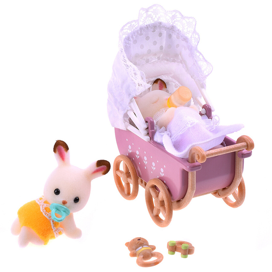 Búp Bê Sambler - Thỏ Con Sinh Đôi Trên Xe Đẩy