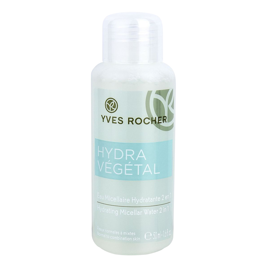 Nước Tẩy Trang Và Cân Bằng Cấp Ẩm Cho Da Yves Rocher Hydrating Vegetal Micellar Water 2 In 1 50ml