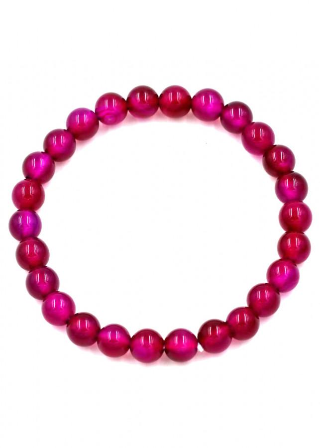 Vòng đeo tay chuỗi hạt đá thạch anh đỏ mận - Sản phẩm phong thủy phù hợp cho nữ