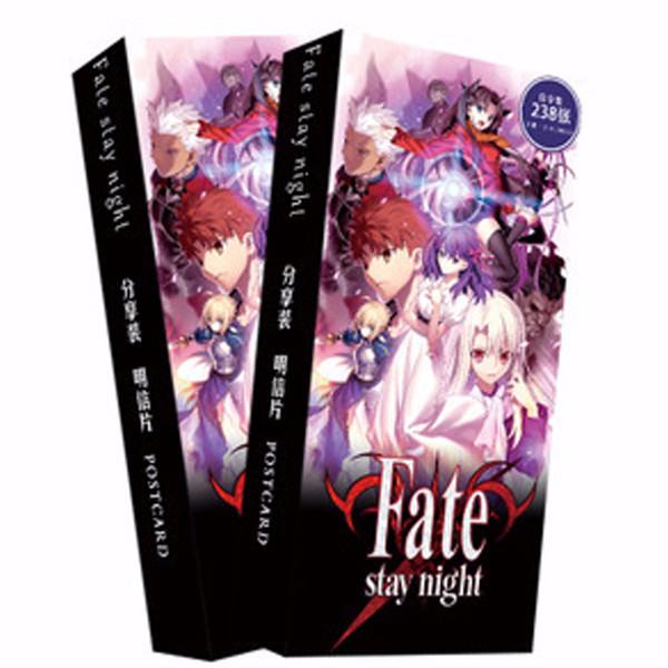 Hộp ảnh Postcard fate stay night 238 ảnh ver 2 nền đen thiết kế độc đáo