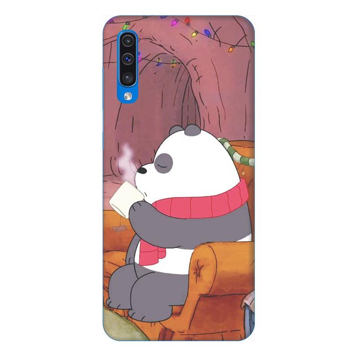 Ốp lưng dành cho điện thoại Samsung Galaxy A50 hình Gấu Bong Uống Trà - Hàng chính hãng