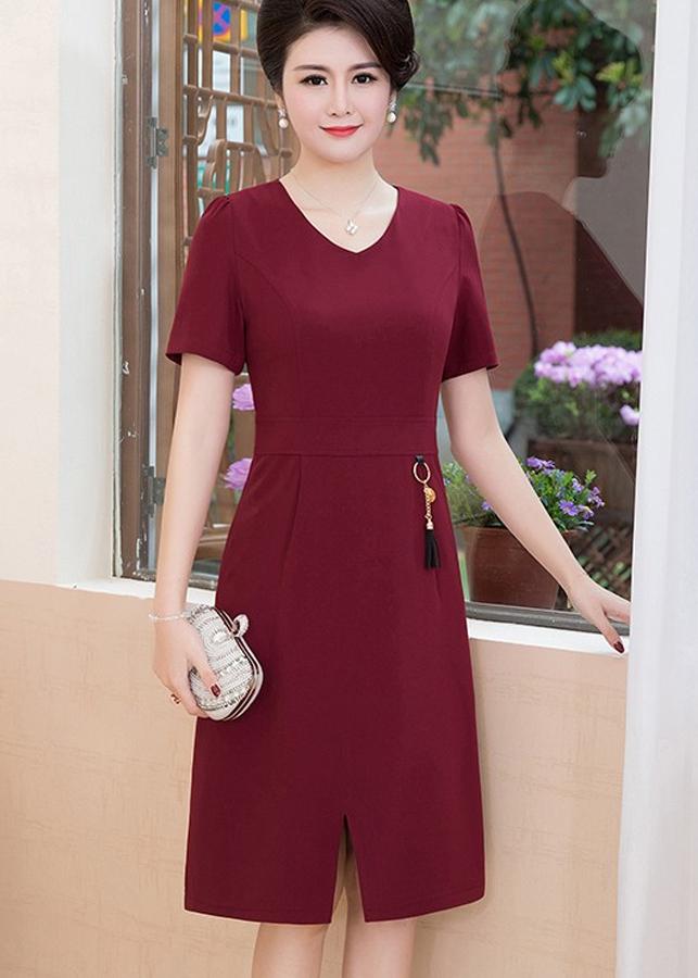 Đầm Nữ Suông Xẻ Tà DRESS158N