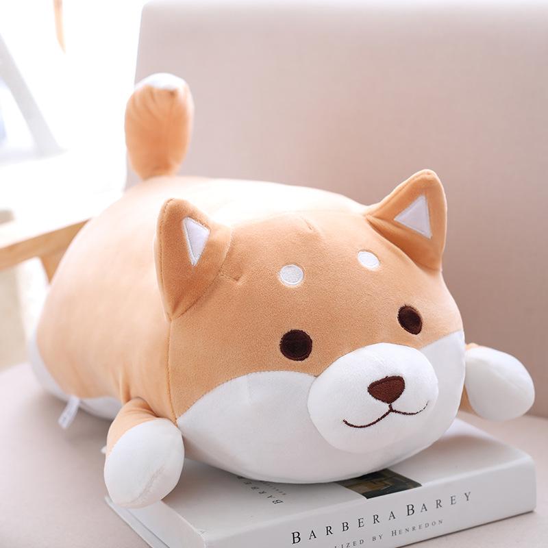 Thú Bông Chú Chó Shiba Inu Nằm 40cm Siêu Mịn