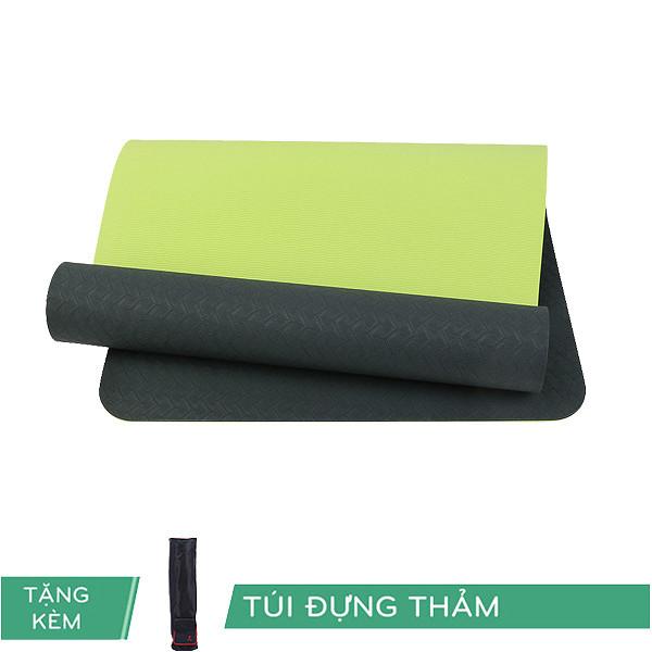 Thảm Tập Yoga TPE ECO RL 6mm 2 lớp Màu ĐenTặng Kèm túi