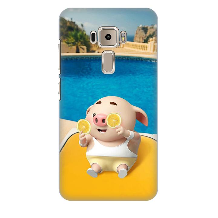 Ốp lưng nhựa cứng nhám dành cho Asus Zenfone 3 ZE550KL in hình Heo Tắm Bể Bơi