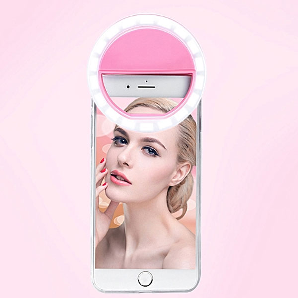 Selfie LED Light Ring Flash Fill Clip Camera For I-Phone  Tablet
