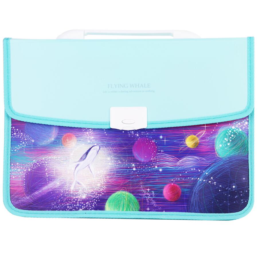 Effective (deli) 72377 North Ming fish A4 students organ bag / handbag / information package color random