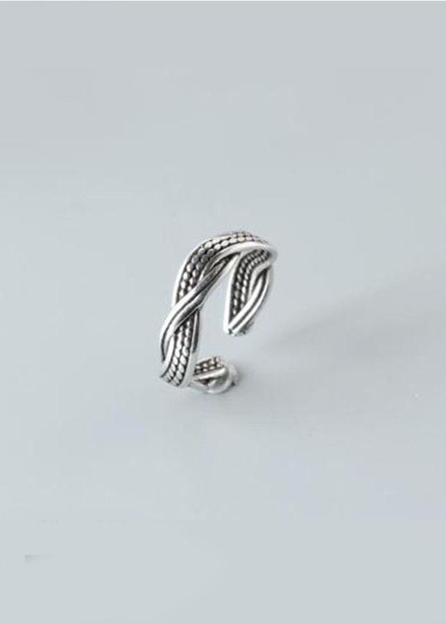 Nhẫn bạc Thái 925 Dasavoong xoắn NH156