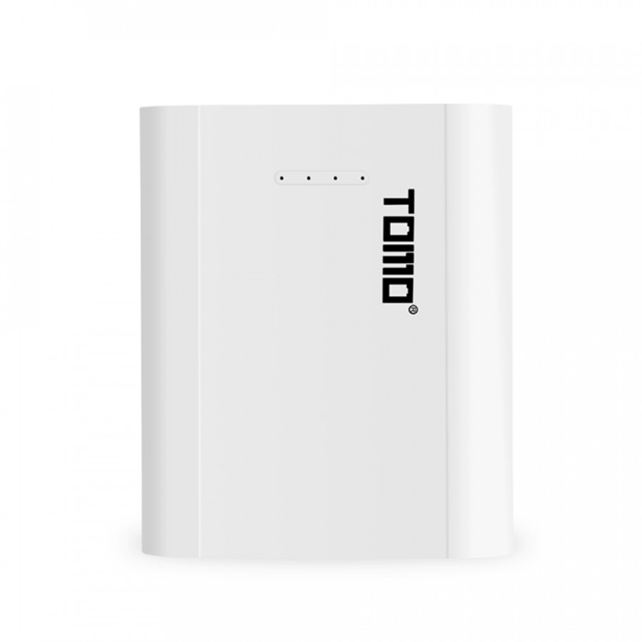 TOMO P4 18650 Li-ion Battery Charger Micro USB Input Dual Output Smart Power Bank Portable Charger for Cellphones