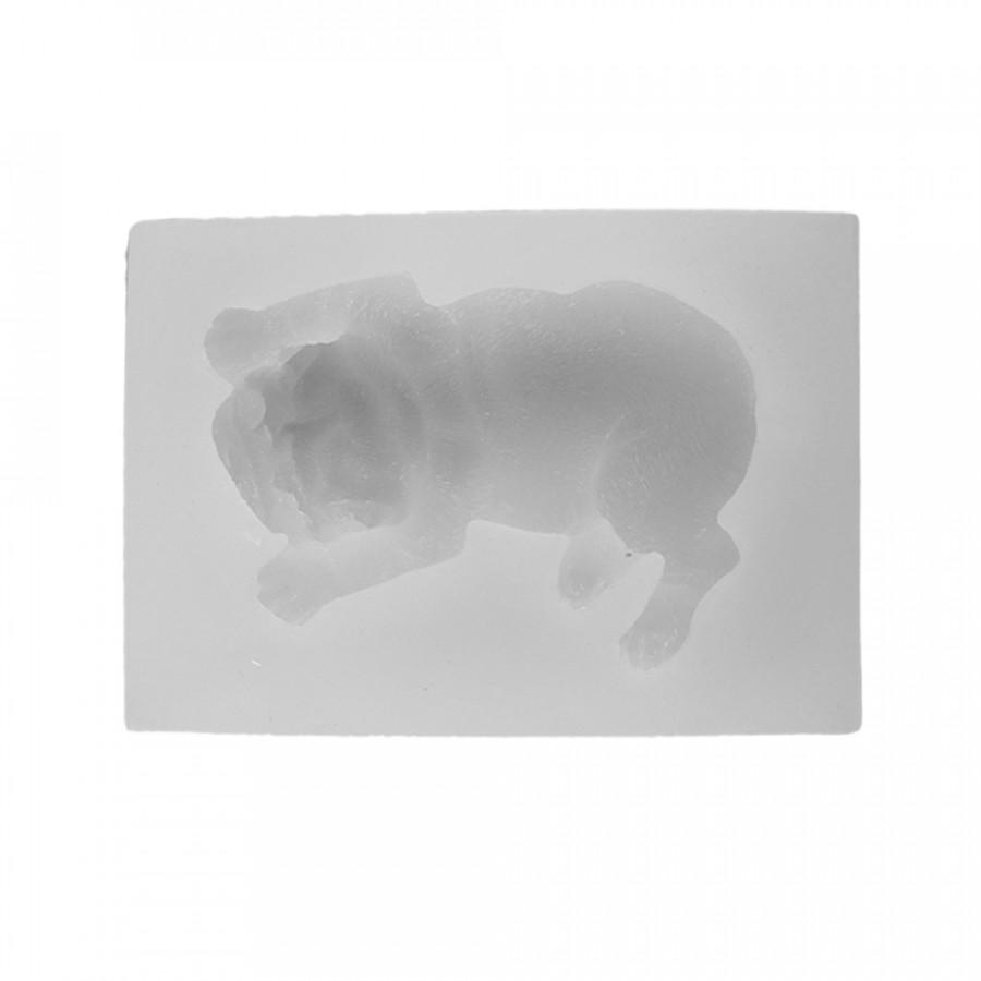 Cute Decoration Cake Baking Mold 3D Shar Pei Dog Silicone DIY Handmade Soap Chocolate Fondant Tools