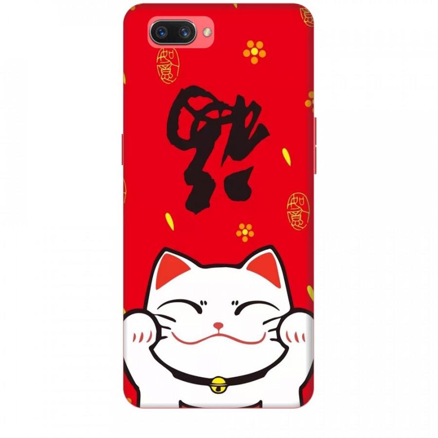 Ốp lưng dành cho điện thoại OPPO A3S Mèo Thần Tài Mẫu 5