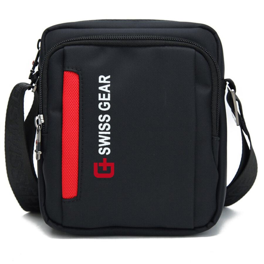 SWISSGEAR Shoulder Bag Casual Fashion Shoulder Messenger Bag Business Bag Male Outdoor Sports Travel Bag iPad Bag SA-5012 Black