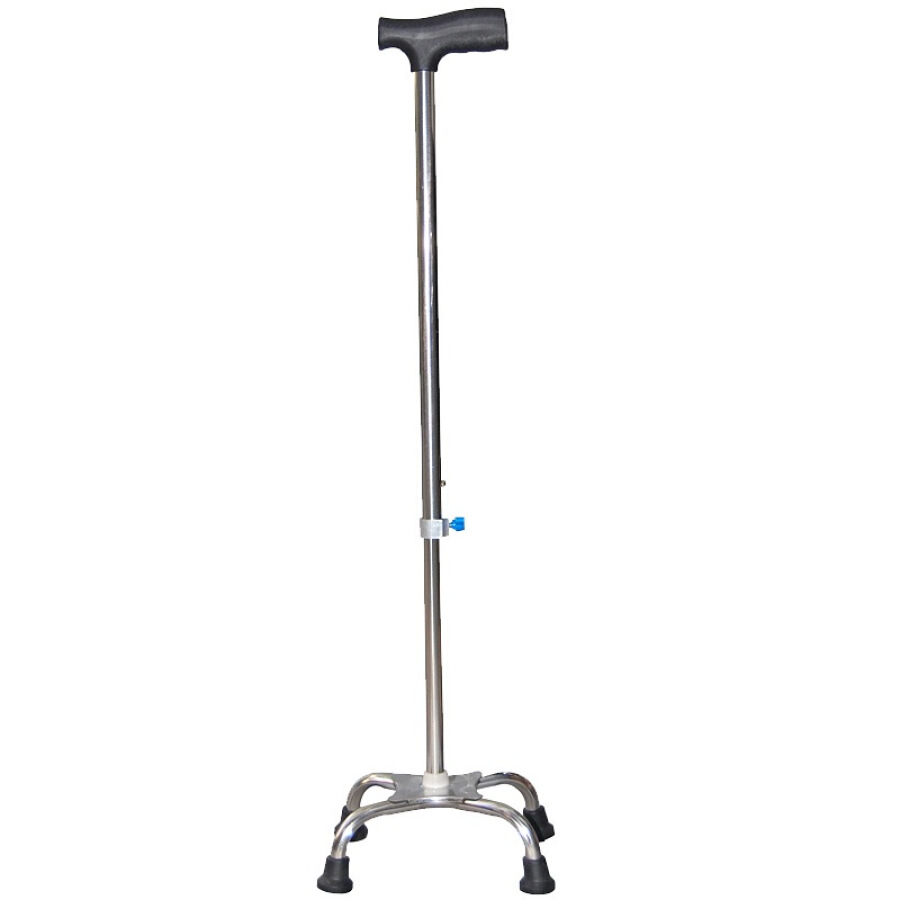 Favorable four-foot crutches upgrade thickened version of the elderly cane stability of stainless steel