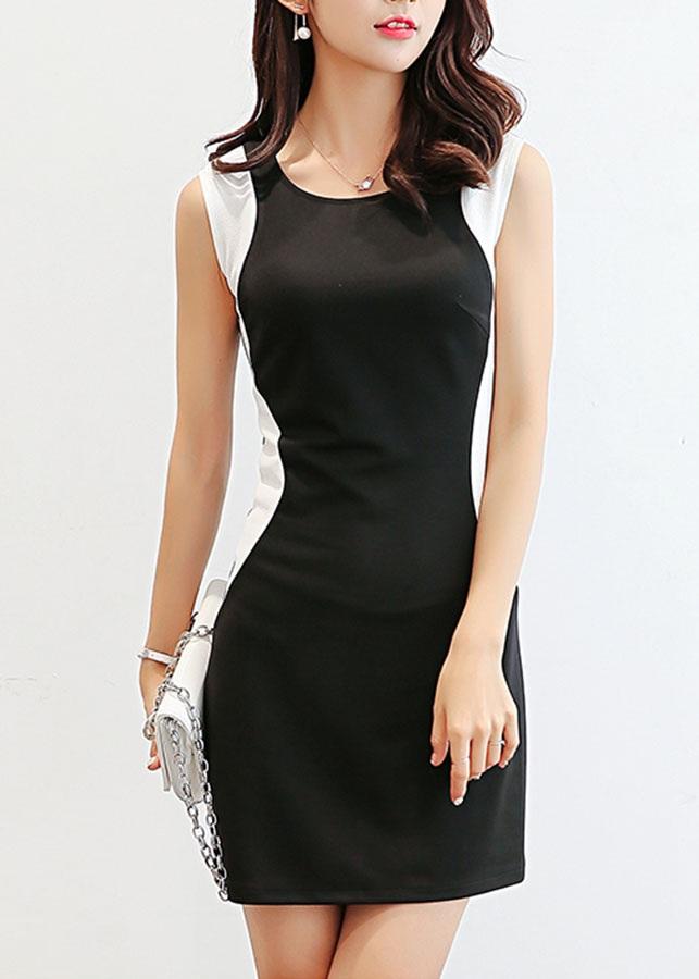 Đầm ôm công sở phối màu Zavans DCS01