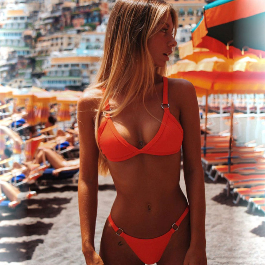 Bathing Suits Bikini Set Sexy Nylon Split Type Women Beach