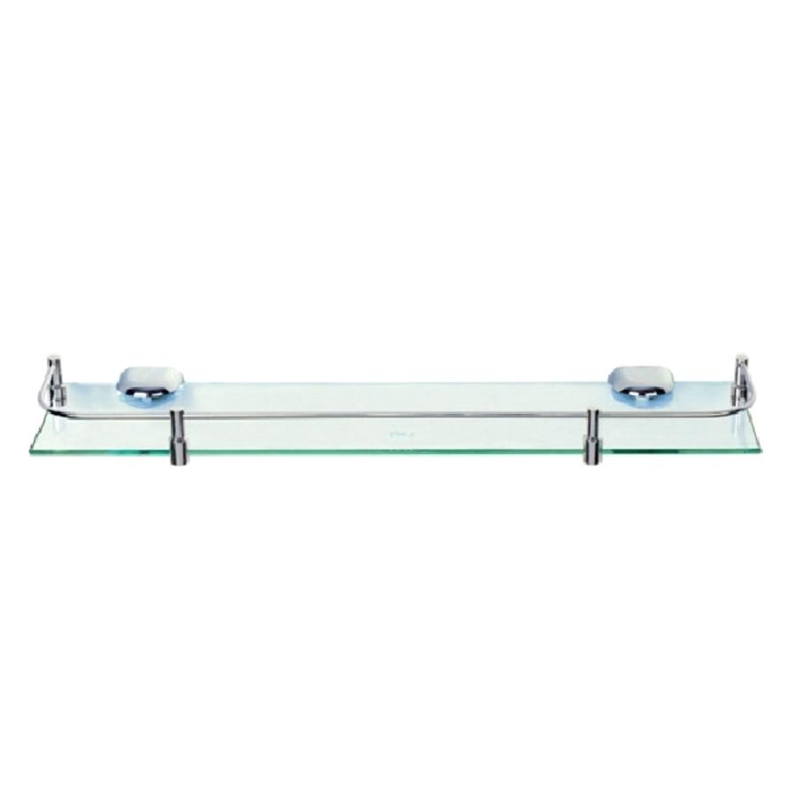 Kệ Gương Phòng Tắm Inox 304 Cao Cấp (Kính Cường Lực PE35) (500 x 120 x 10 mm)