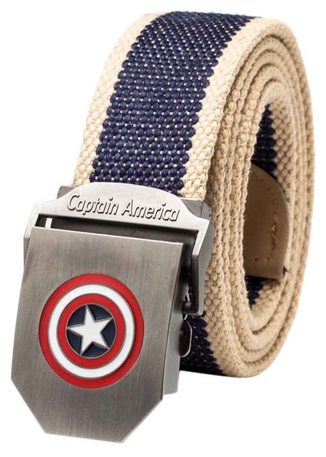 Thắt Lưng Vải Dù Nữ Mặt Khoá Hợp Kim Mặt Captain America - Màu 11