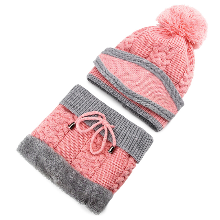 Antarctic hat female winter Korean version of the trend of fashion students headgear wild knitted plus velvet thickening earmuffs scarf...