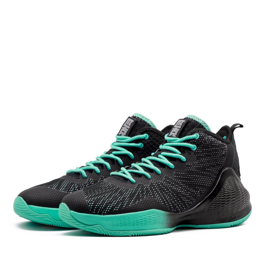Giày bóng rổ PEAK Basketball Motive High E91061A - Đen Xanh