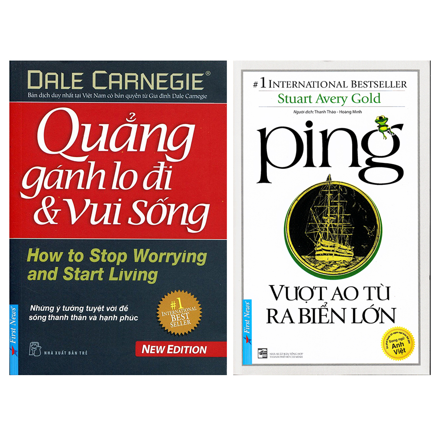 Combo Ping - Vượt Ao Tù Ra Biển Lớn + Quẳng Gánh Lo Đi Và Vui Sống (2 Cuốn)