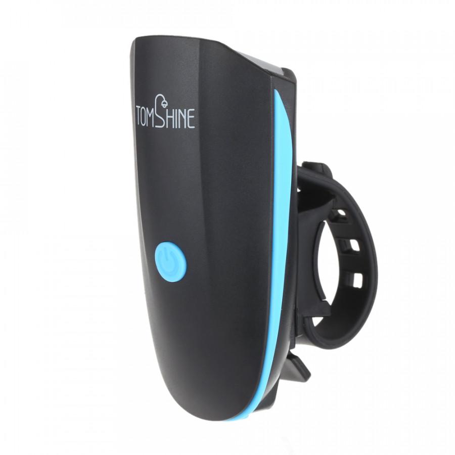 Tomshine Super Bright LED Bike Front Light  Tail Light 5W 250LM 120dB Loudspeaker 6 Lighting Modes USB Rechargeable