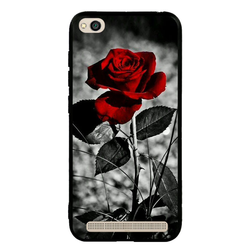 Ốp lưng viền TPU cho điện thoại Xiaomi Redmi 5A -Rose 08