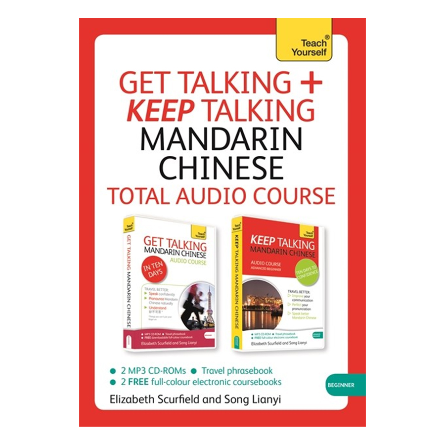Get Talking + Keep Talking Mandarin Chinese Total Audio Course (With CD-ROM)